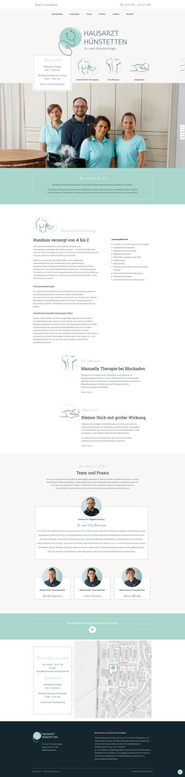 Fertige Website Hausarzt Hünstetten