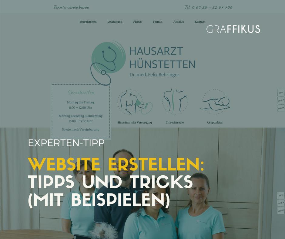 Website erstellen Tipps